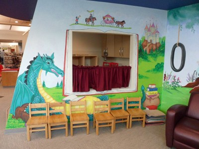 mural with dragon
